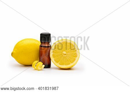 Aromatherapy Oil Bottle With Lemons