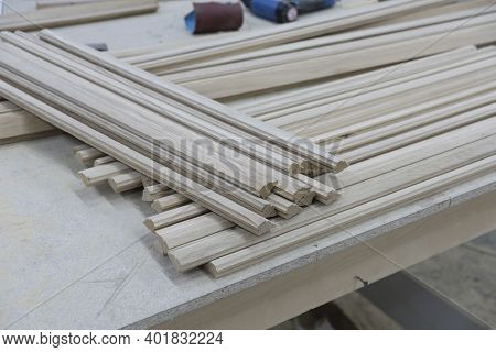 Production Of Skirting Boards On The Woodworking Equipment On Production Of Wooden Natural Products