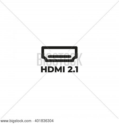 HDMI icon . HDMI 2.0 icon . HDMI cable line icon, hdmi cable icon isolated on white background from hardware collection. hdmi cable icon trendy and modern hdmi cable symbol for logo, web, app, UI. hdmi cable icon simple sign. hdmi cable icon flat vector i