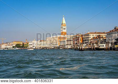 Campanile Di San Marco In A Summer Day In Venice