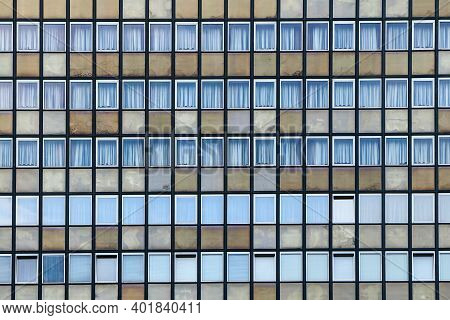 A Picture Of An Old Communist Hotel. It Is An Illustration Of The Brutalist Architecture Of The Past