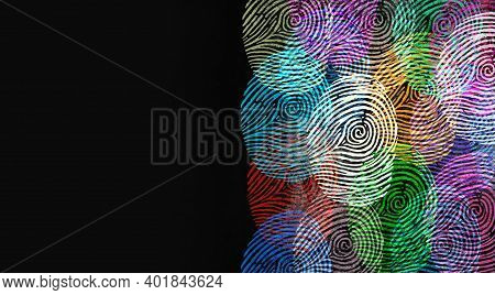 Diverse Identity And Privacy Concept Or Personal Private Data Symbol As Finger Prints Or Fingerprint