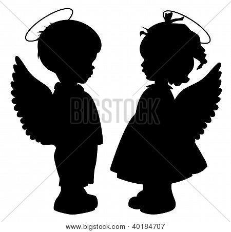 Angel Silhouettes Set