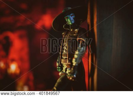 JAN 1 2021: Star Wars Duros bounty hunter Cad Bane from the Clone Wars era - Hasbro action figure