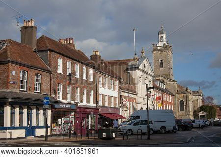 The Centre Of Blandford Forum, Dorset In The Uk, Taken On The 26th October 2020