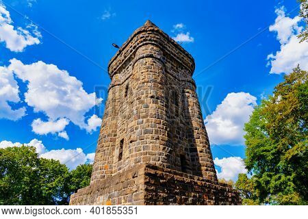 Bismarck Tower In The Hardt Park In Wuppertal, Germany