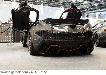 Dubai, Uae - November 16: The Mclaren P1 Sportscar Is On Dubai Motor Show 2019 On November 16, 2019