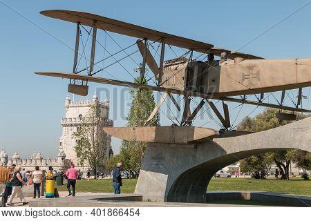 Fairey Iii-d Aircraft In Lisbon, Portugal