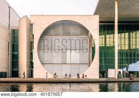 Berlin, Germany - July 28, 2019: Marie-elisabeth-luders-haus Building In Government District Of Berl