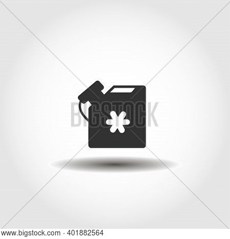 Antifreeze Jerrycan Isolated Vector Icon. Car Service Design Element