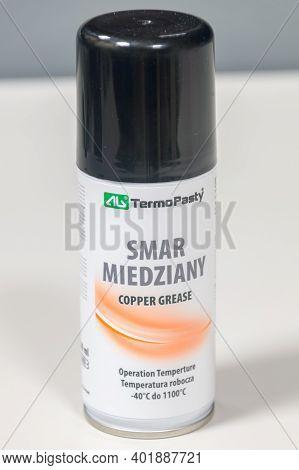 Pruszcz Gdanski, Poland - December 8, 2020: Termopasty Copper Grease.