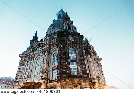 DRESDEN, GERMANY - July 23, 2017: Street view of downtown Dresden, Germany