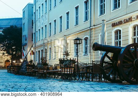 DRESDEN, GERMANY - July 23, 2017: Antique building view in Dresden, Germany