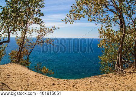 Sleeping Bear Dunes National Lakeshore. Overlook On The Pierce Stocking Scenic Drive In The Sleeping
