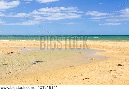 Tidal Flow On Whites Beach - Torquay, Victoria, Australia