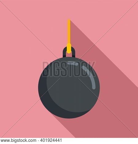 Wrecking Ball Icon. Flat Illustration Of Wrecking Ball Vector Icon For Web Design