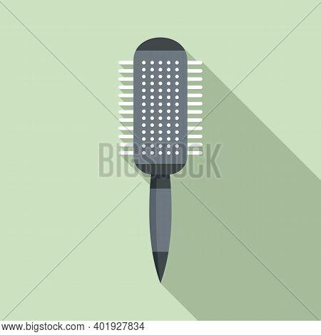 Hairbrush Icon. Flat Illustration Of Hairbrush Vector Icon For Web Design