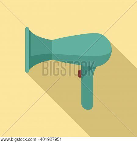 Professional Hair Dryer Icon. Flat Illustration Of Professional Hair Dryer Vector Icon For Web Desig