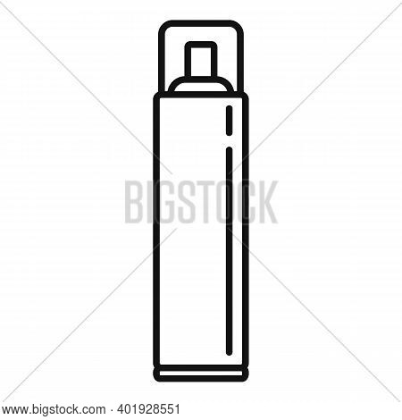 Stylist Hair Spray Icon. Outline Stylist Hair Spray Vector Icon For Web Design Isolated On White Bac