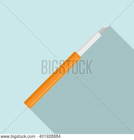 Cutter Pen Icon. Flat Illustration Of Cutter Pen Vector Icon For Web Design