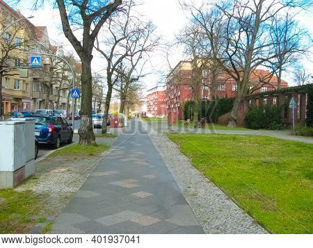 Berlin, Germany - March 03, 2020: Cars At Street And Road At Berlin