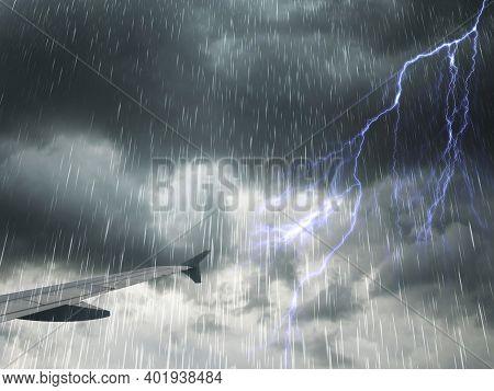 Plane With Stormy Sky Plane With Stormy Sky