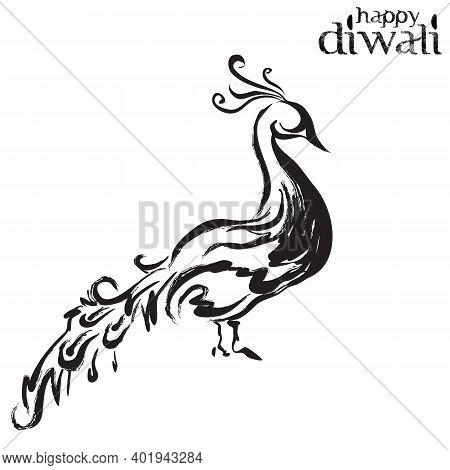 Peacock Logo Design Template, Peacock Bird Illustration