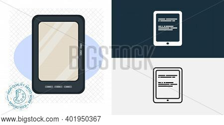 Ebook Isolated Vector Icon. Line, Solid Design Element