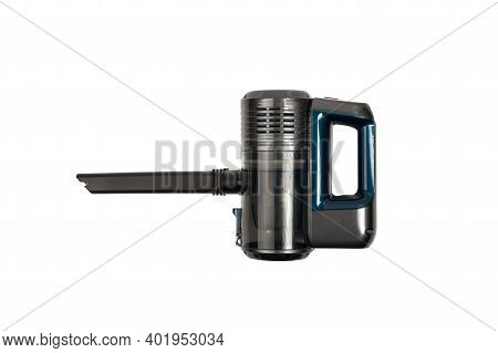 Battery Vacuum Cleaner. Handheld Portable Vacuum Cleaner Isolated On A White Background. Cordless Va
