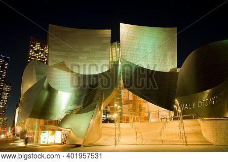 Los Angeles, California, United States - December 09, 2008: Tthe Avant Garde Architecture Of Walt Di