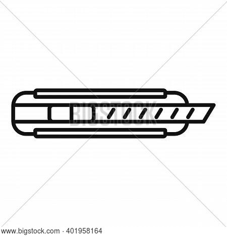 Cutter Metal Icon. Outline Cutter Metal Vector Icon For Web Design Isolated On White Background