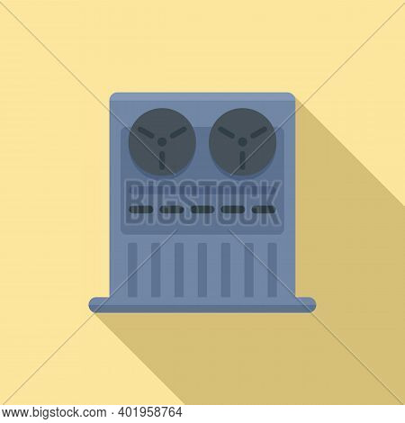 Old Video Recorder Icon. Flat Illustration Of Old Video Recorder Vector Icon For Web Design