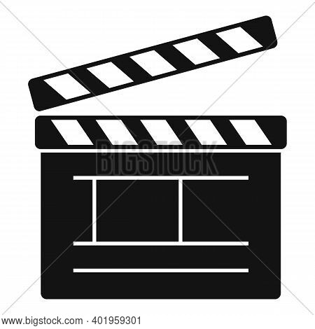 Video Clapper Icon. Simple Illustration Of Video Clapper Vector Icon For Web Design Isolated On Whit