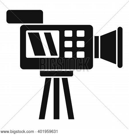 Cameraman Video Camera Icon. Simple Illustration Of Cameraman Video Camera Vector Icon For Web Desig