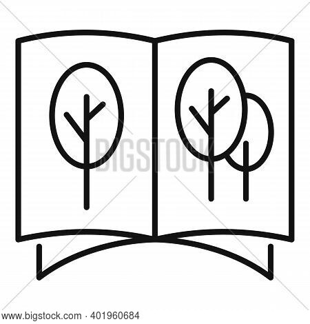 Landscape Design Catalog Icon. Outline Landscape Design Catalog Vector Icon For Web Design Isolated