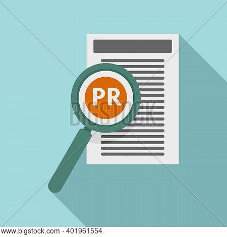 Pr Specialist Paper Icon. Flat Illustration Of Pr Specialist Paper Vector Icon For Web Design