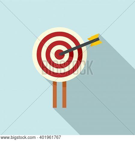 Pr Specialist Target Icon. Flat Illustration Of Pr Specialist Target Vector Icon For Web Design