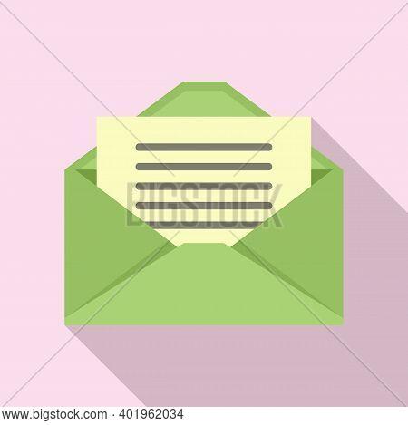 Pr Mail Letter Icon. Flat Illustration Of Pr Mail Letter Vector Icon For Web Design