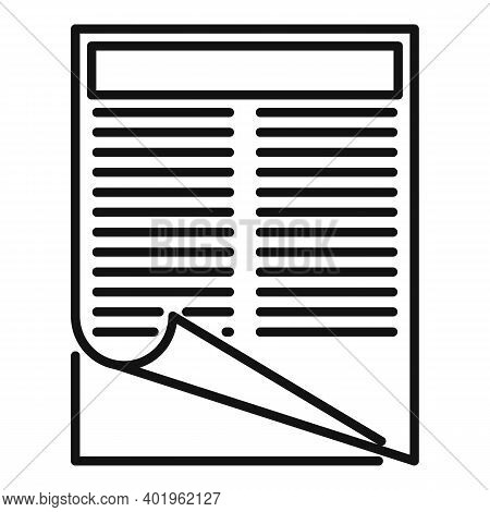 Pr Specialist Documents Icon. Outline Pr Specialist Documents Vector Icon For Web Design Isolated On