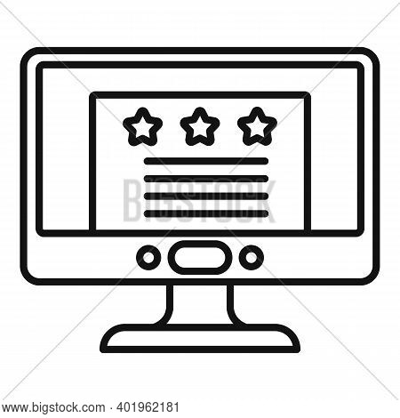 Online Pr Specialist Icon. Outline Online Pr Specialist Vector Icon For Web Design Isolated On White