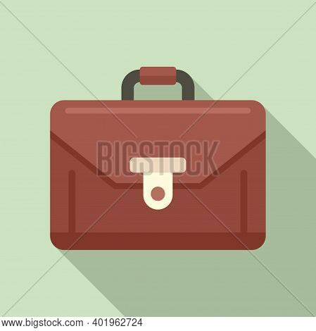 Product Manager Suitcase Icon. Flat Illustration Of Product Manager Suitcase Vector Icon For Web Des