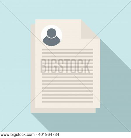 Sociology Papers Icon. Flat Illustration Of Sociology Papers Vector Icon For Web Design