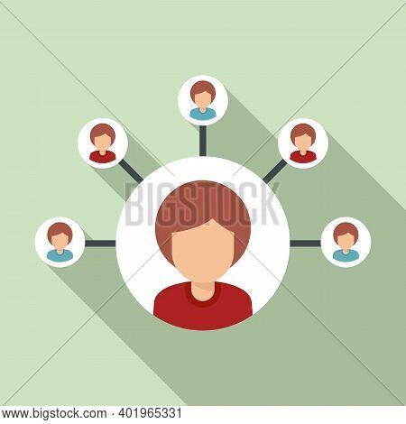 Sociology Person Scheme Icon. Flat Illustration Of Sociology Person Scheme Vector Icon For Web Desig