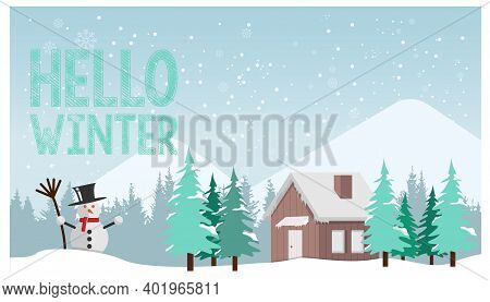Winter Landscape Background Banner Design