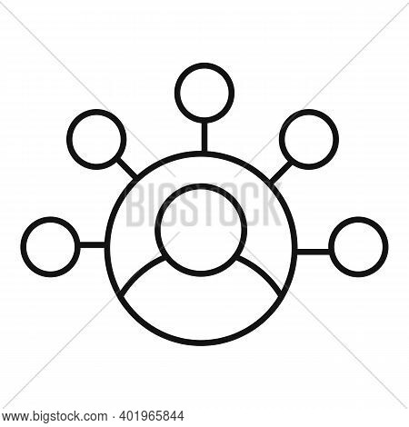 Sociology Person Scheme Icon. Outline Sociology Person Scheme Vector Icon For Web Design Isolated On
