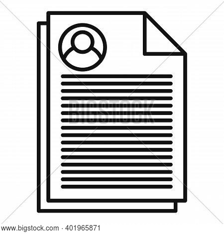 Sociology Papers Icon. Outline Sociology Papers Vector Icon For Web Design Isolated On White Backgro