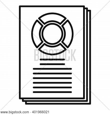 Sociology Data Paper Icon. Outline Sociology Data Paper Vector Icon For Web Design Isolated On White