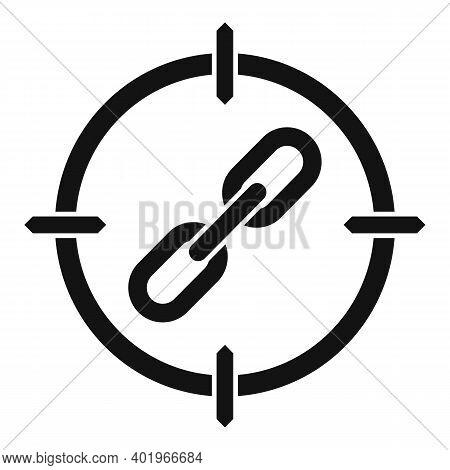 Aim Backlink Strategy Icon. Simple Illustration Of Aim Backlink Strategy Vector Icon For Web Design