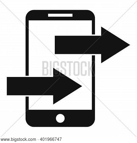 Phone Sends Links Icon. Simple Illustration Of Phone Sends Links Vector Icon For Web Design Isolated