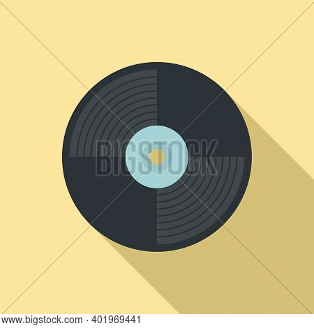 Vinyl Disc Icon. Flat Illustration Of Vinyl Disc Vector Icon For Web Design